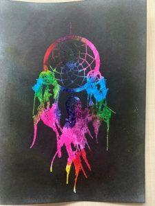 Dark colours create 'holes' in the final design