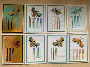 Funky insects and words